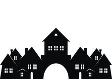 City, black sillhouette Stock Photo
