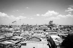 City in black and white Royalty Free Stock Images