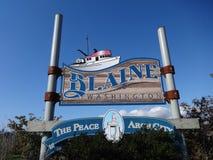 City of Blaine sign Royalty Free Stock Photos