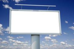 City blank billboard. Over blue sky Royalty Free Stock Image