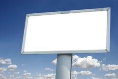 City blank billboard. Over blue sky Stock Photography