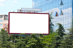 City blank billboard Royalty Free Stock Image
