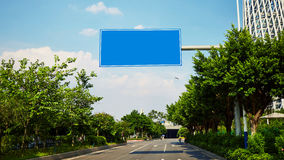 City blank road sign board Stock Photo