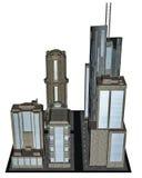 City block - 3D render Stock Photos