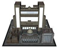 City block - 3D render Royalty Free Stock Photo