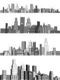 City blocks vector illustration