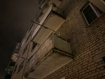 City blocks at night Royalty Free Stock Photo