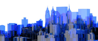 City Blue xray transparent Stock Photography