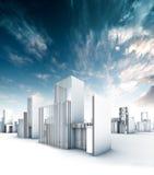 City Blueprint Stock Photo