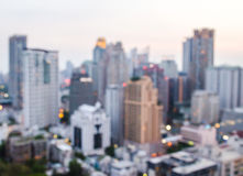 City blur. City blur with sunset and evening time on high view in Bangkok Thailand Stock Image