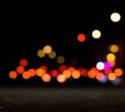 City blurred bokeh Royalty Free Stock Image