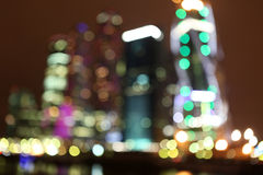 City blurred night light, Abstract xmas lights,holiday circle  a Stock Photos