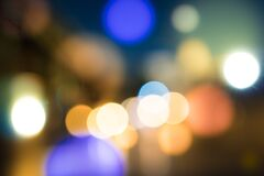 Free City Blurring Lights Abstract Bokeh On Dark Background Royalty Free Stock Photos - 212792478