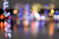 City blurry lights Royalty Free Stock Image
