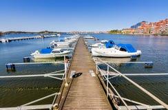 City boat harbor in Karlskrona Stock Image