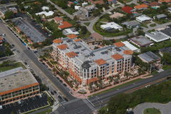 City of Boca Raton - Meridian. Buildings, homes and streets on Boca Raton - Florida. Luxury homes. Meridian Condo on Palmetto Blvd stock images