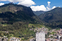 City of Bogota Colombia. The buildings of downtown and the high hills of Bogota, Colombia stock photos