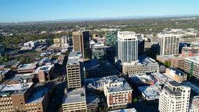 City of Boise Idaho and Iconic State Capital stock video