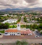 City of Boise Idaho with the Train Depot and Capital boulevard Stock Photo