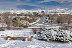City of Boise Idaho in the winter Stock Images