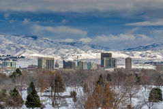 City of Boise Idaho Winter Royalty Free Stock Photos