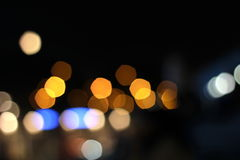 City bokeh background Royalty Free Stock Images