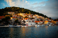 City Bol view on Brac island, Croatia Royalty Free Stock Images