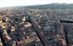 City of Bologna from ASINELLI Tower Italy Stock Photography