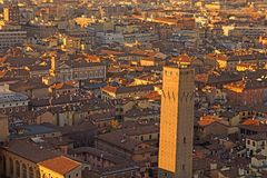 City of Bologna from ASINELLI Tower Italy Royalty Free Stock Image