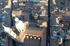 City of Bologna from ASINELLI Tower Italy Royalty Free Stock Images