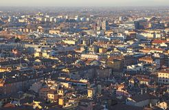 City of Bologna from the highTower Stock Image