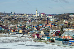 The city of Borovsk, the river Protva Stock Photos