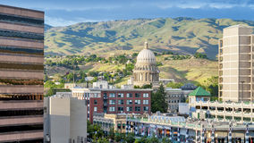 City of Bosie Idaho with modern buildings Stock Photos