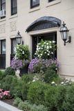 City  Boston  buildings with garden. Modern city Boston buildings with garden  , Mass  USA Royalty Free Stock Photography