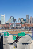 City of Boston with empty interstate junction Royalty Free Stock Photos