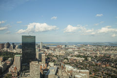 The City of Boston. Looking down on the city of Boston Massachusetts Royalty Free Stock Photos