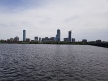 Boston over the Charles stock photo