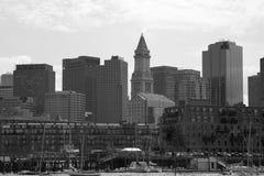 City  Boston skyline view Stock Photos