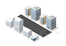 City boulevard isometric Royalty Free Stock Image
