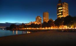 City boulevard twilight shot Royalty Free Stock Photography