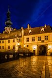 Old Town of Bratislava at Night Stock Photo