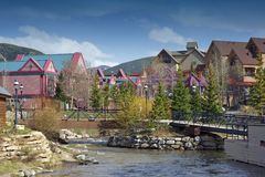 City of Breckenridge Stock Image