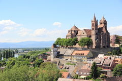 The city of Breisach in Germany. View of Breisach in Germany at the edge of the Rhine Royalty Free Stock Images