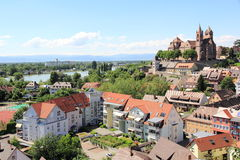 The city of Breisach in Germany. View of Breisach in Germany at the edge of the Rhine Stock Image
