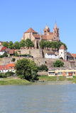 The city of Breisach in Germany. View of Breisach in Germany at the edge of the Rhine Royalty Free Stock Photos