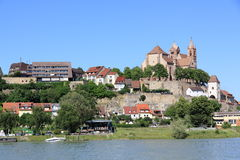 The city of Breisach in Germany. View of Breisach in Germany at the edge of the Rhine Stock Photo