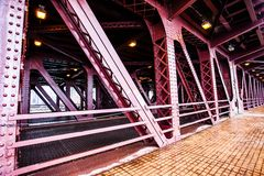 City Bridge in Chicago. Royalty Free Stock Images