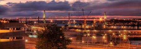 City bridge at night Stock Image