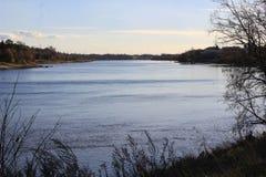 City of Bridges. Saskatchewan river scene Stock Photography