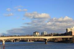 City of Bridges. Saskatoon river scenery Royalty Free Stock Photography